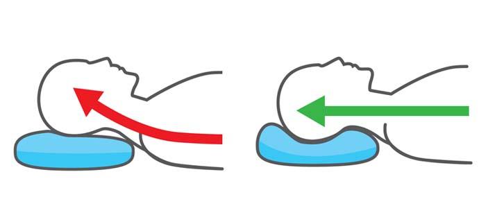 Nackenkissen benutzen als Rückenschläfer