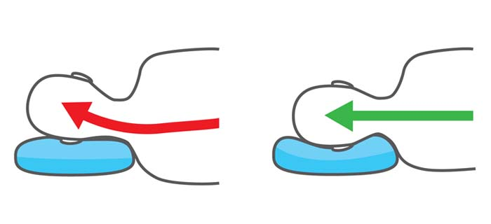 Nackenkissen benutzen als Seitenschläfer